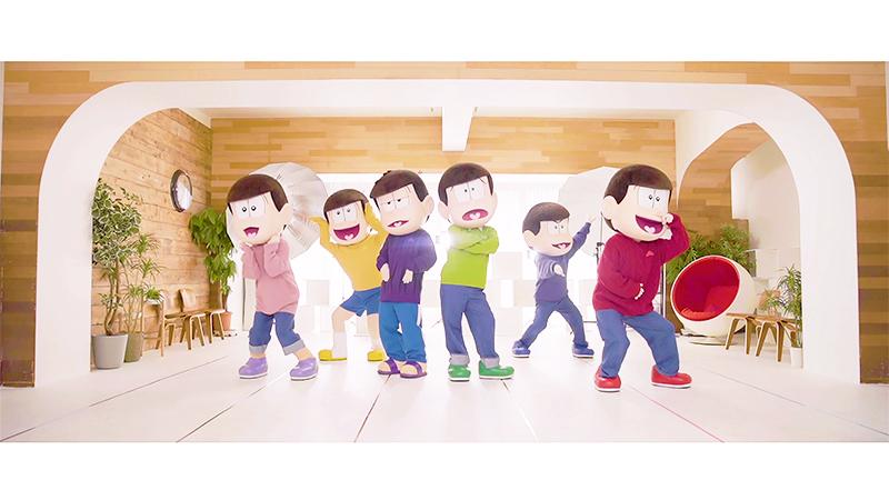 """「おそ松さん」EDテーマのMVダンスバージョンが公開!トト子にラブコールする6つ子たちが""""トト恋ダンス""""を披露"""