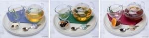 「セーラームーンカフェ-Eternal-」はるかのEternalホットティー(カモミール)/みちるのEternalホットティー(緑茶)/せつなのEternalホットティー(ほうじ茶)