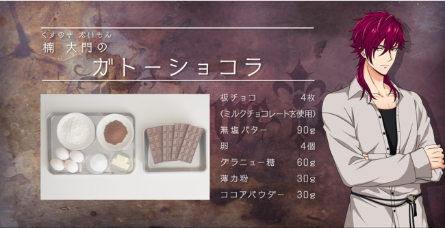 「アルゴナビス from BanG Dream! AAside「あるごはん-ARGOHAN-」楠大門によるガトーショコラレシピ