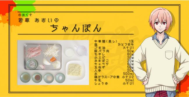 「アルゴナビス from BanG Dream! AAside「あるごはん-ARGOHAN-」若草あおいによるちゃんぽんレシピ