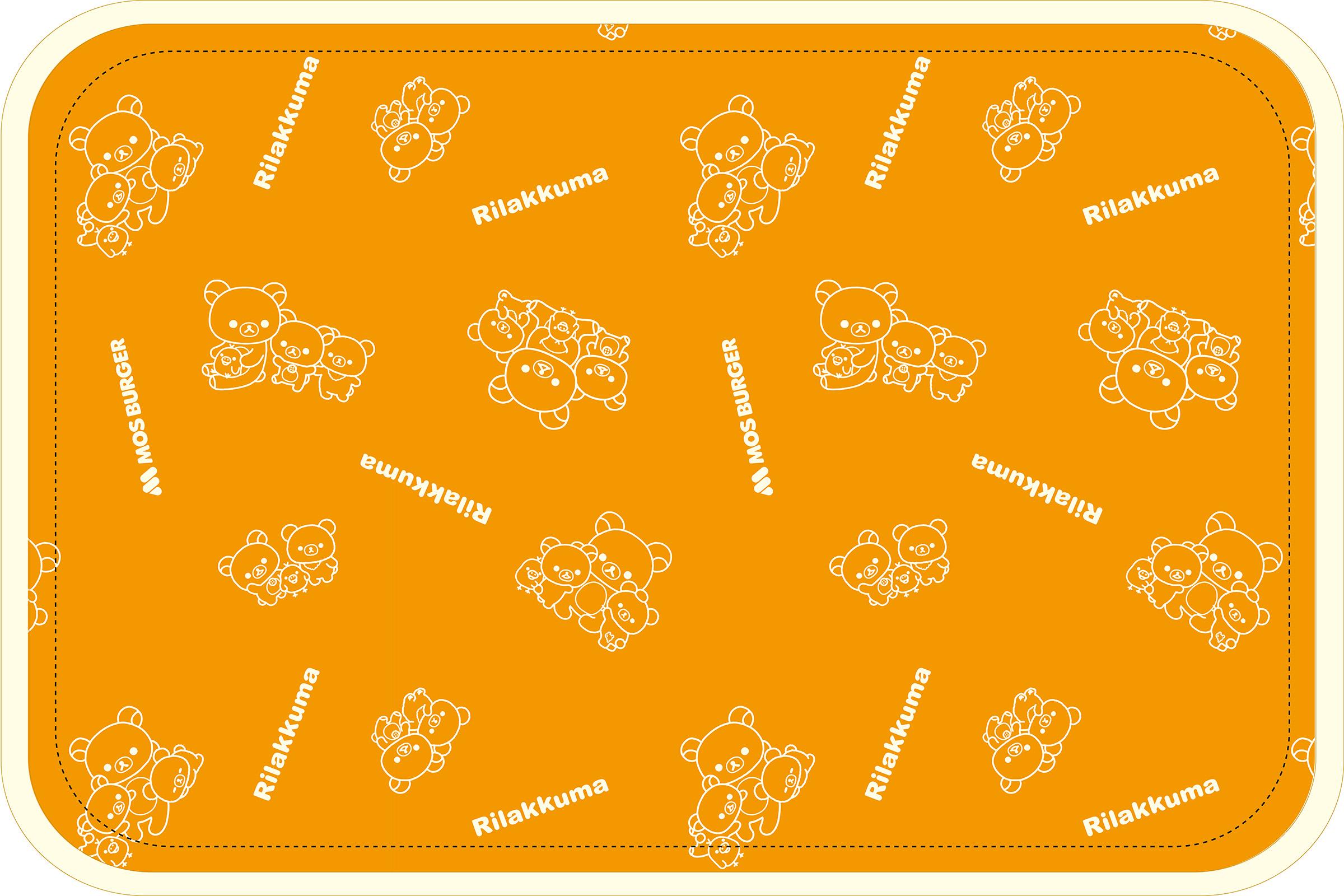 「リラックマ」×「モスバーガー」2021 モス福袋 ブランケット