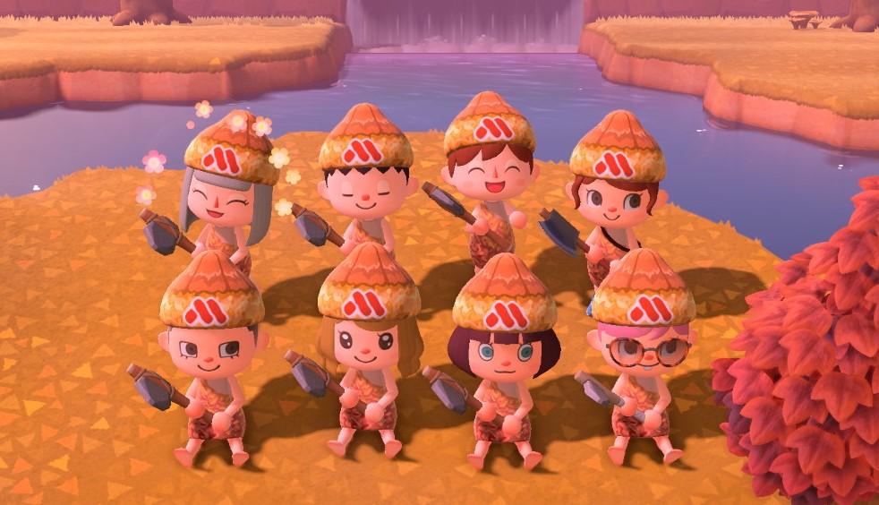 「あつまれどうぶつの森」モスバーガーのマイデザイン配布スタート!モスチキンを身に纏って部族風コーデ
