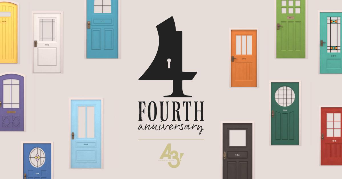 「A3!」4周年特設サイト本オープン!24人の鍵を探すお楽しみ企画「MANKAI KEY HUNTING」もスタート