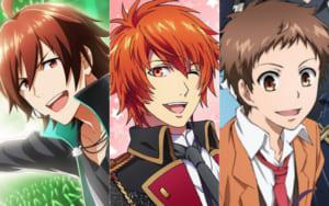 左から「アイドルマスター」天ヶ瀬冬馬、「うたの☆プリンスさまっ♪」一十木音也、「SERVAMP-サーヴァンプ-」城田真昼