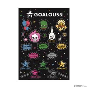 「GOALOUS5」オンラインイベント「声福大作戦〜新作戦!虜にさせるのだ!〜」ゴーラステッカー