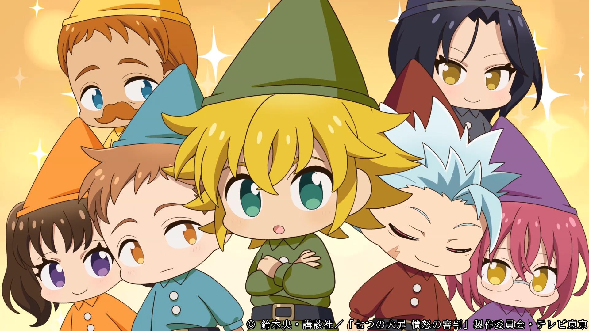 TVアニメ「七つの大罪」パロディー風ミニアニメ「劇団七つの大罪」が公開!リアル・ホークのグリーティングも開催決定