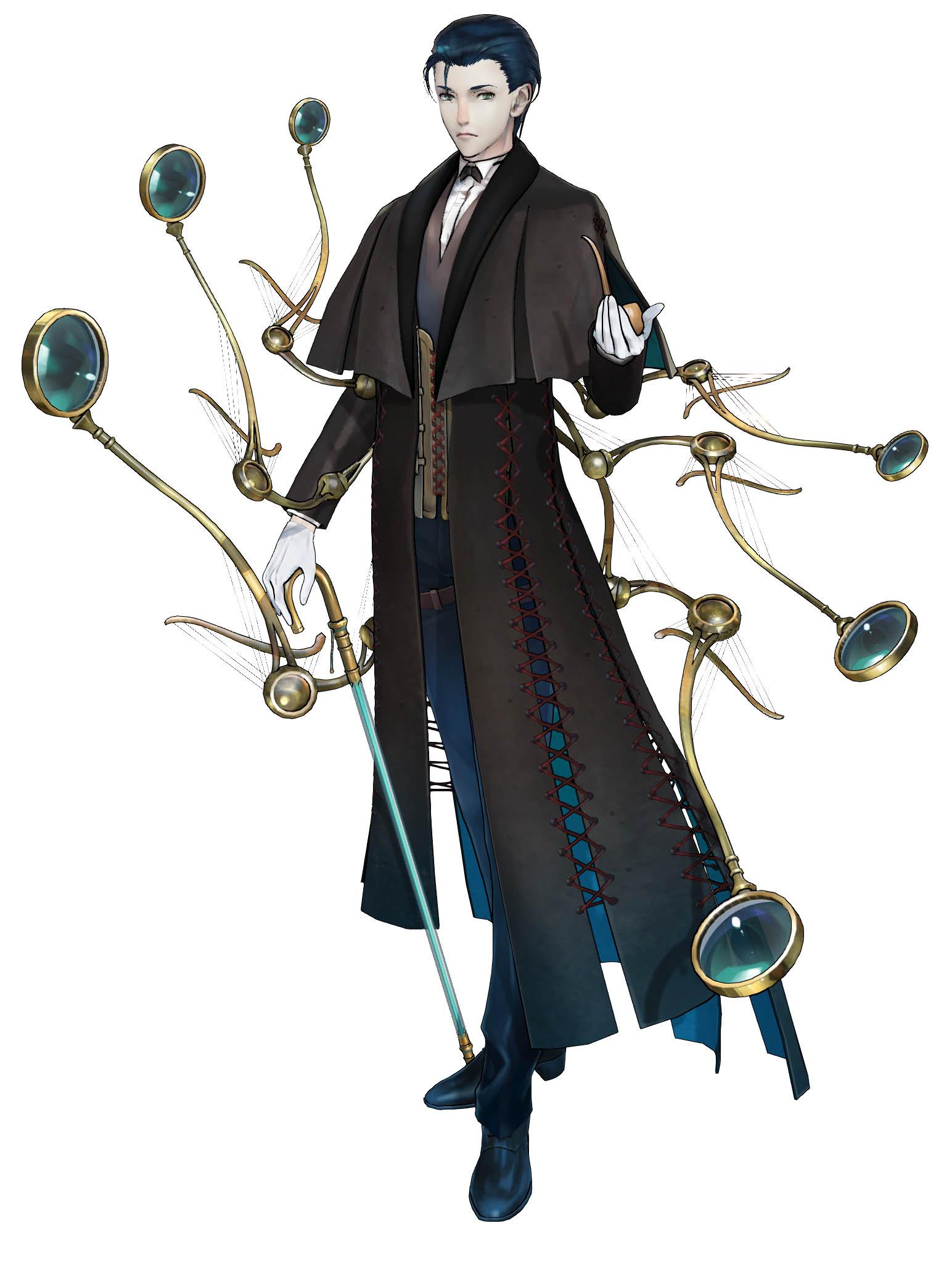 「Fate/Grand Order Arcade」シャーロック・ホームズ_3DCG_第2段階
