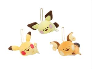 「Pokémon Yurutto」シリーズ第3弾「ぬいぐるみ Pokémon Yurutto 寝そべりピチュー・ピカチュウ・ライチュウ」