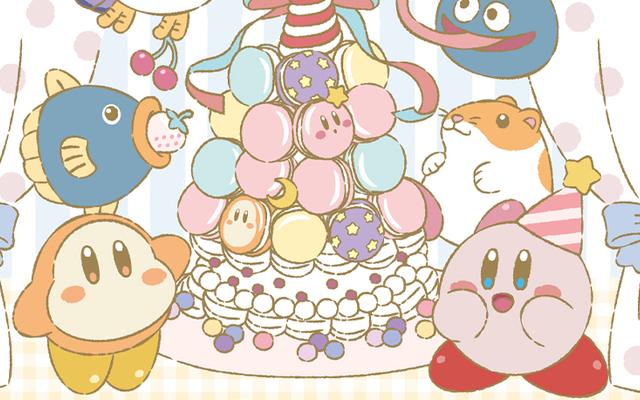 「星のカービィ」マカロンケーキに夢中なカービィやワドルディが可愛い!あまくてかわいいアートを使用した新作一番くじが登場