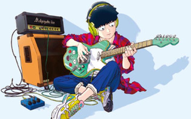 「モブサイコ100 Ⅱ」ギターを持ったモブの描き下ろしが素敵!タワレコで新規グッズ販売やパネル展示が実施されるフェア開催