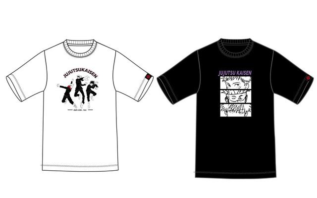「呪術廻戦」虎杖・伏黒・五条がプリントされたTシャツ2種が登場!普段使いからイベントまで大活躍