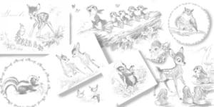 「大人ディズニー 華やか塗り絵レッスンブック ファンタジー」バンビ