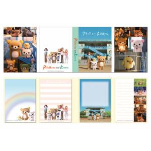 パタパタメモ帳(4柄入、各柄30枚) (サイズ:約タテ11×ヨコ34.9cm)660円