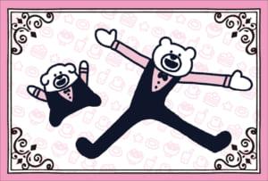 「けたくま×SWEETS PARADISE」ノベルティ「オリジナルポストカード(後半:1月7日〜1月17日)」