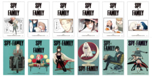 『SPY×FAMILY』× TOWER RECORDS CAFEコラボメニュー注文特典:カレンダーカード(2021年1月~6月)