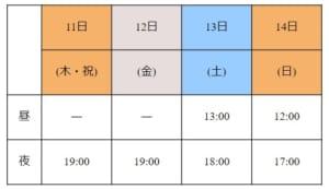 「最遊記歌劇伝-Sunrise-」大阪公演スケジュール