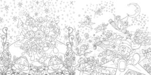 「大人ディズニー 華やか塗り絵レッスンブック ファンタジー」ミッキーマウス