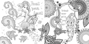 「大人ディズニー 華やか塗り絵レッスンブック ファンタジー」ディズニープリンセス