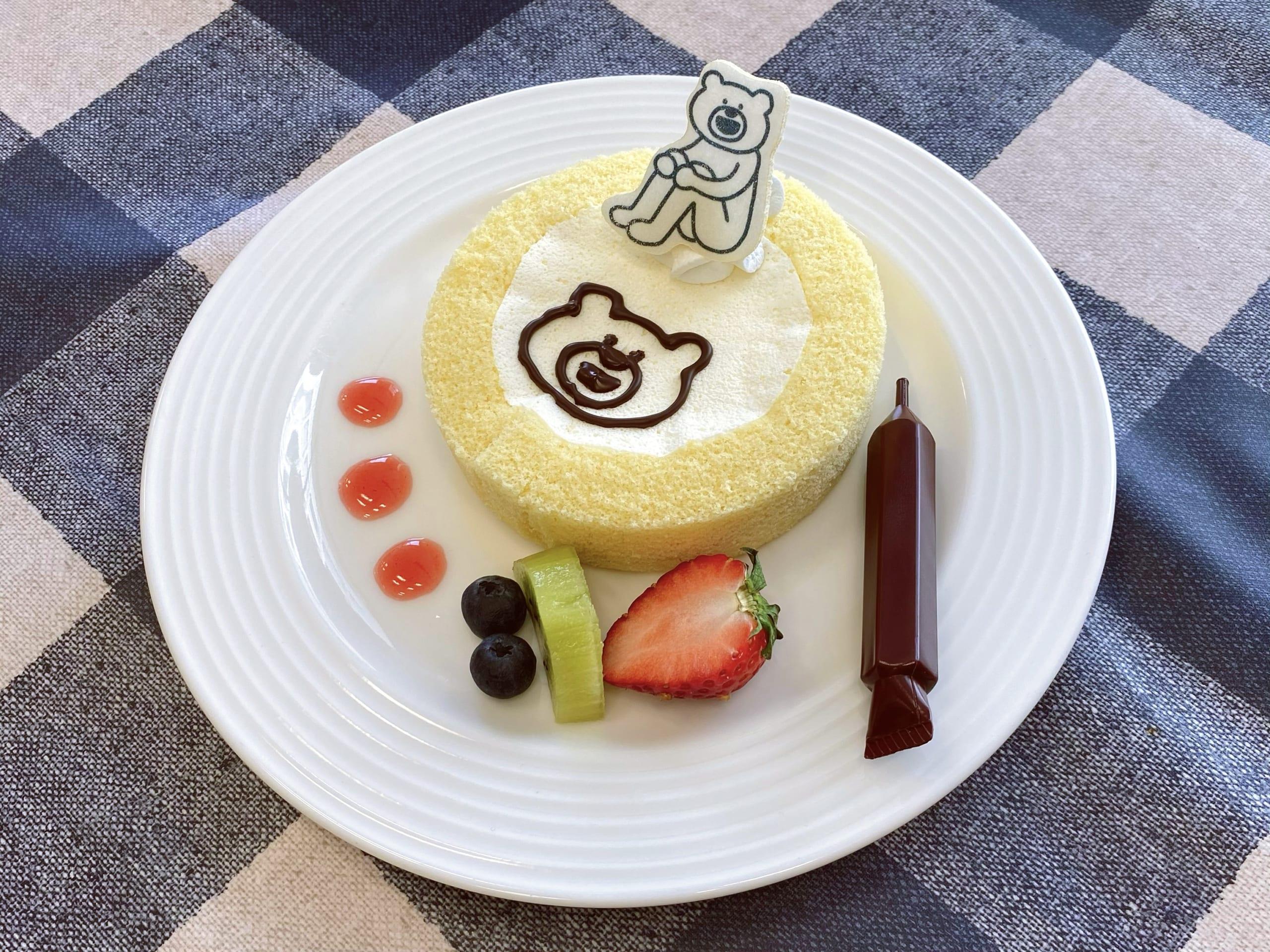 「けたくま×SWEETS PARADISE」けたくまのお絵描きロールケーキ