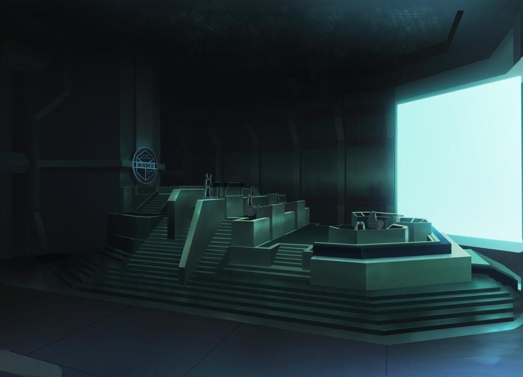 「特別上映版 ワールドトリガー2ndシーズン」美術設定画 ボーダー基地司令部(オペレーションルーム)
