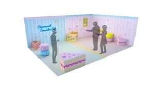 サンリオピューロランド「シナモロールのデコレーションカフェ」体験イメージ