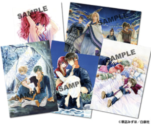 「暁のヨナ」プチ原画展 ポストカード(5枚セット)