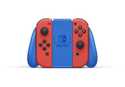 「Nintendo Switch マリオレッド×ブルー セット」Joy-Conグリップ(特別デザイン)