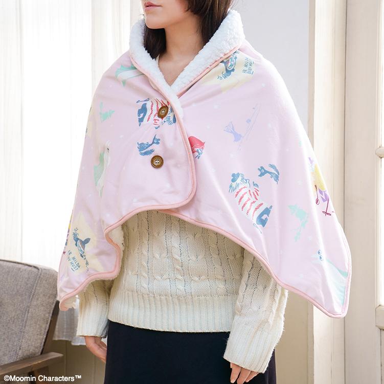 「一番くじ ムーミン~One Winter Day~」B賞:あったかケープブランケット