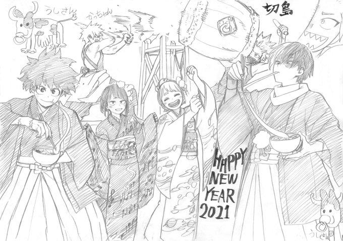 【漫画家・イラストレーター編】A HAPPY NEW YEAR!ヒロアカ・刀剣乱舞など各公式お正月ツイートまとめ