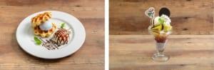 「セガコラボカフェ 呪術廻戦」真人と吉野のワッフルサンド ~澱月を添えて~・禪院・狗巻・パンダの2年生パフェ