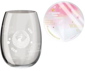 「刀剣乱舞-online-」×「ファミリーマート」オリジナルグラス・コースターセット 鶴丸国永