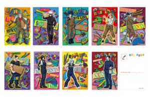 「呪術廻戦アニメ放送記念フェアin東急ハンズ 第2弾」ポストカード(文房具カフェコラボ):330円