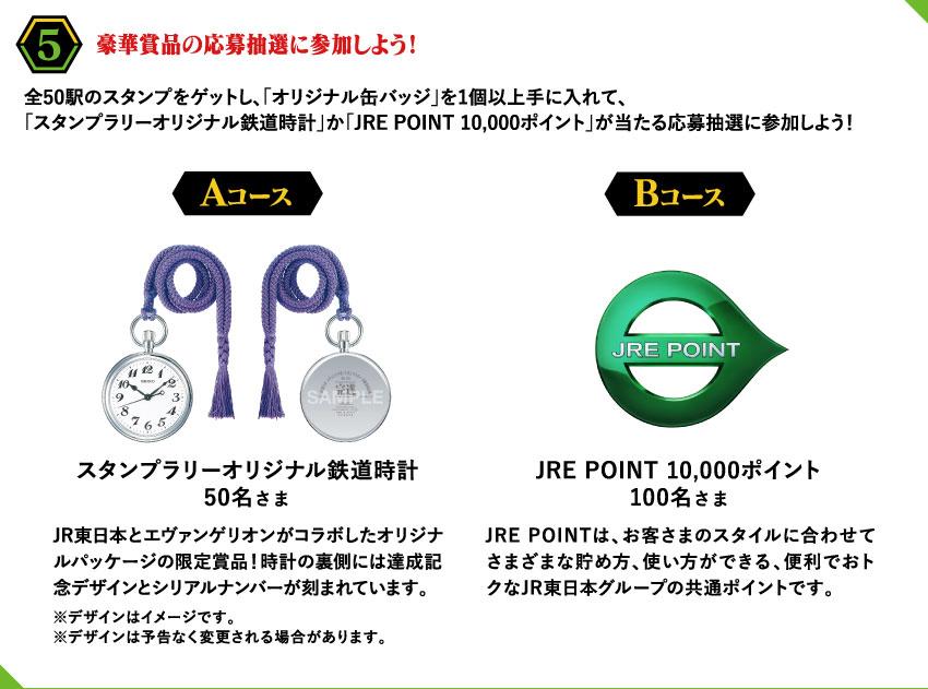 「エヴァンゲリオン×JR東日本」スタンプラリー抽選景品