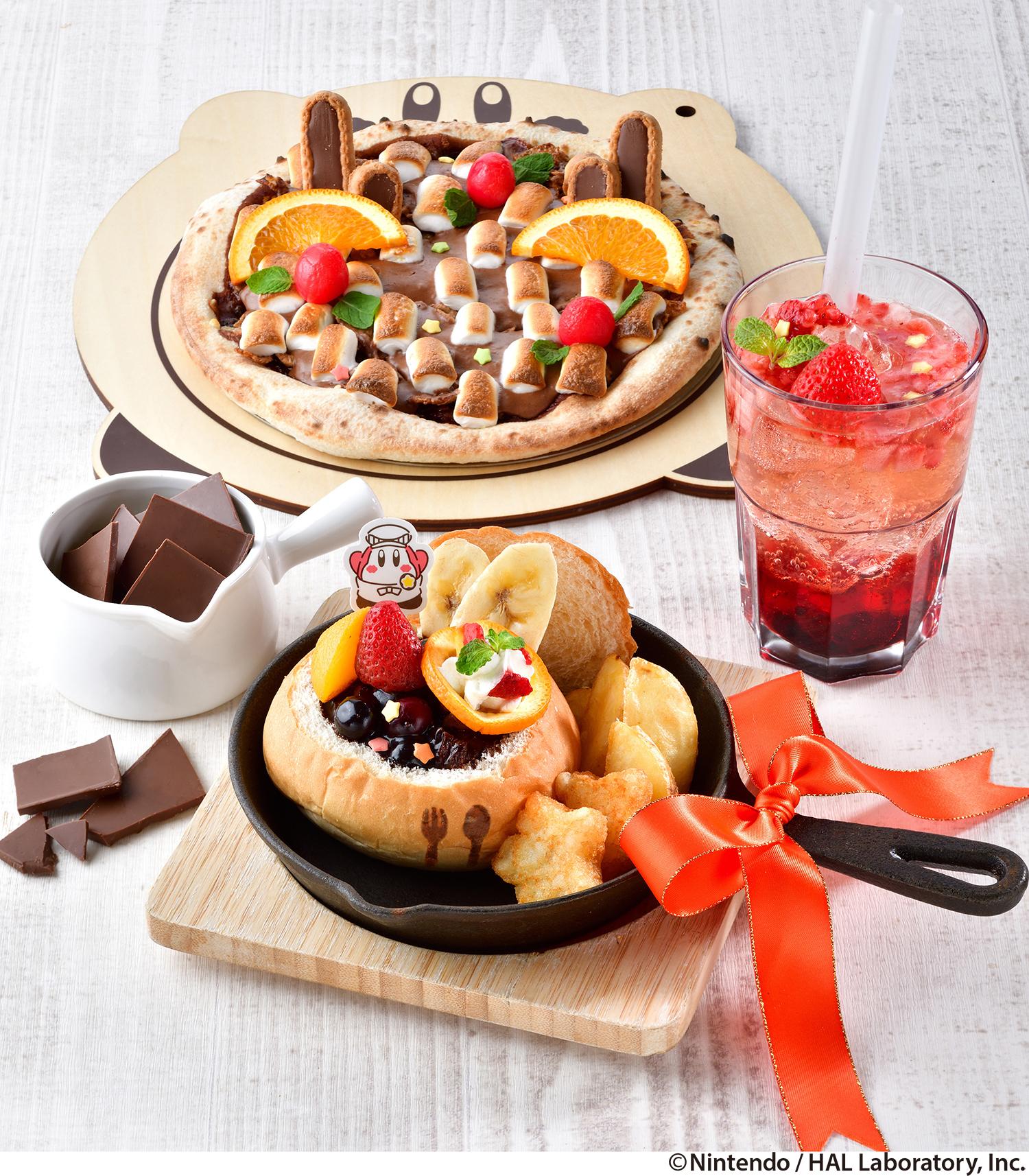「カービィカフェ」チョコレートとフルーツがいっぱいのフェア「Chocolate de PUPUPU」開催決定!