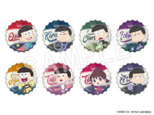 ■おそ松さん ふぉーちゅん☆アクリルバッジ アメコミヒーロー 王冠風(全8種)