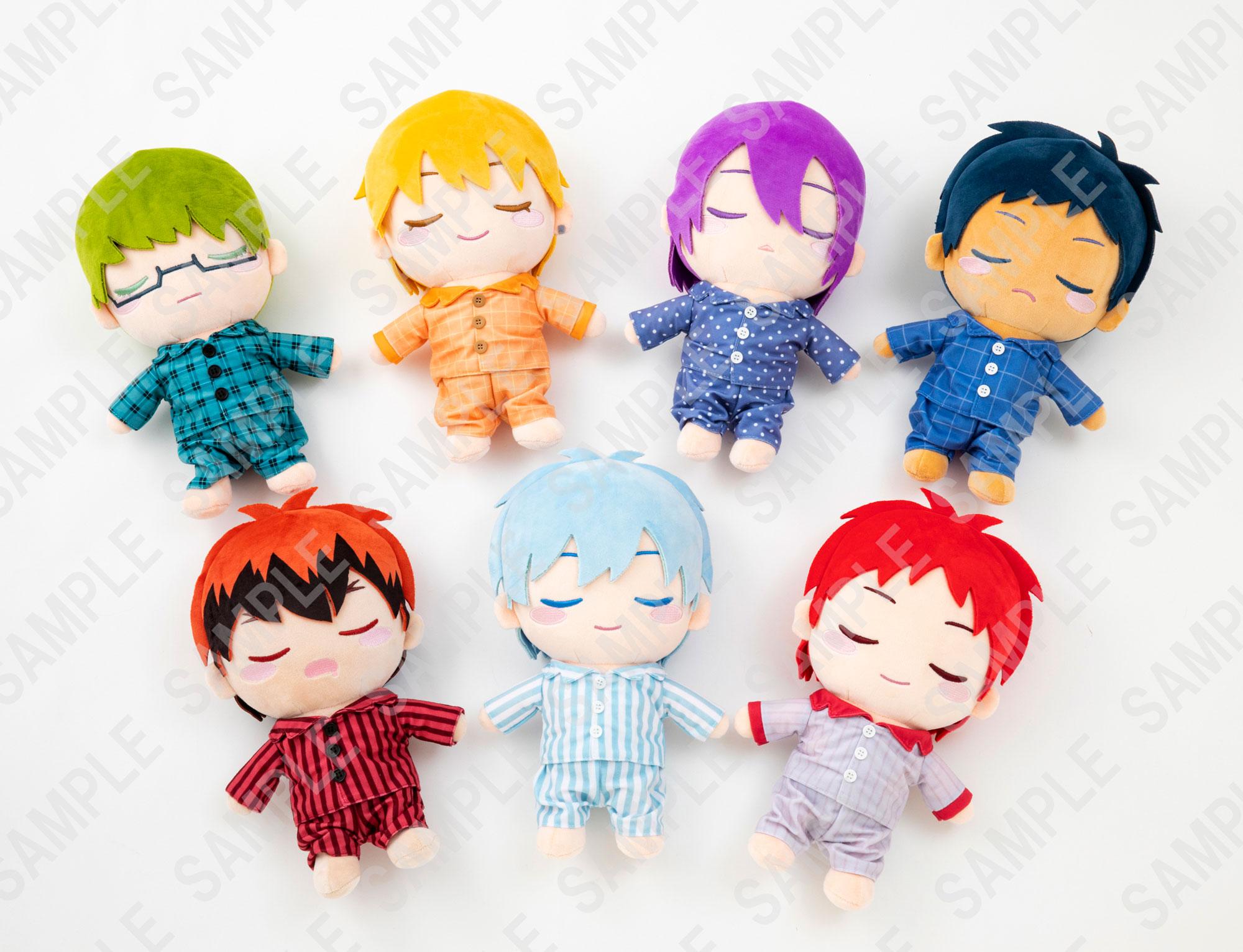 「黒子のバスケ」すやすやと眠る表情がキュートな「おやすみどーる」登場!パジャマを着たキセキの世代たちが大集合