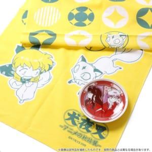 「犬夜叉-アニメの軌跡展-」限定グッズ付き入場券:手ぬぐい&豆皿セット