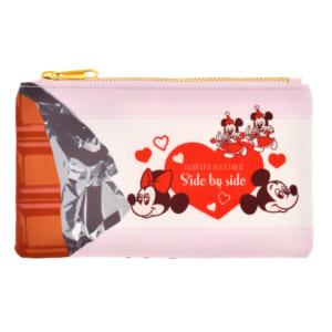 ミッキー&フレンズ ポーチ フラット Valentine Pop
