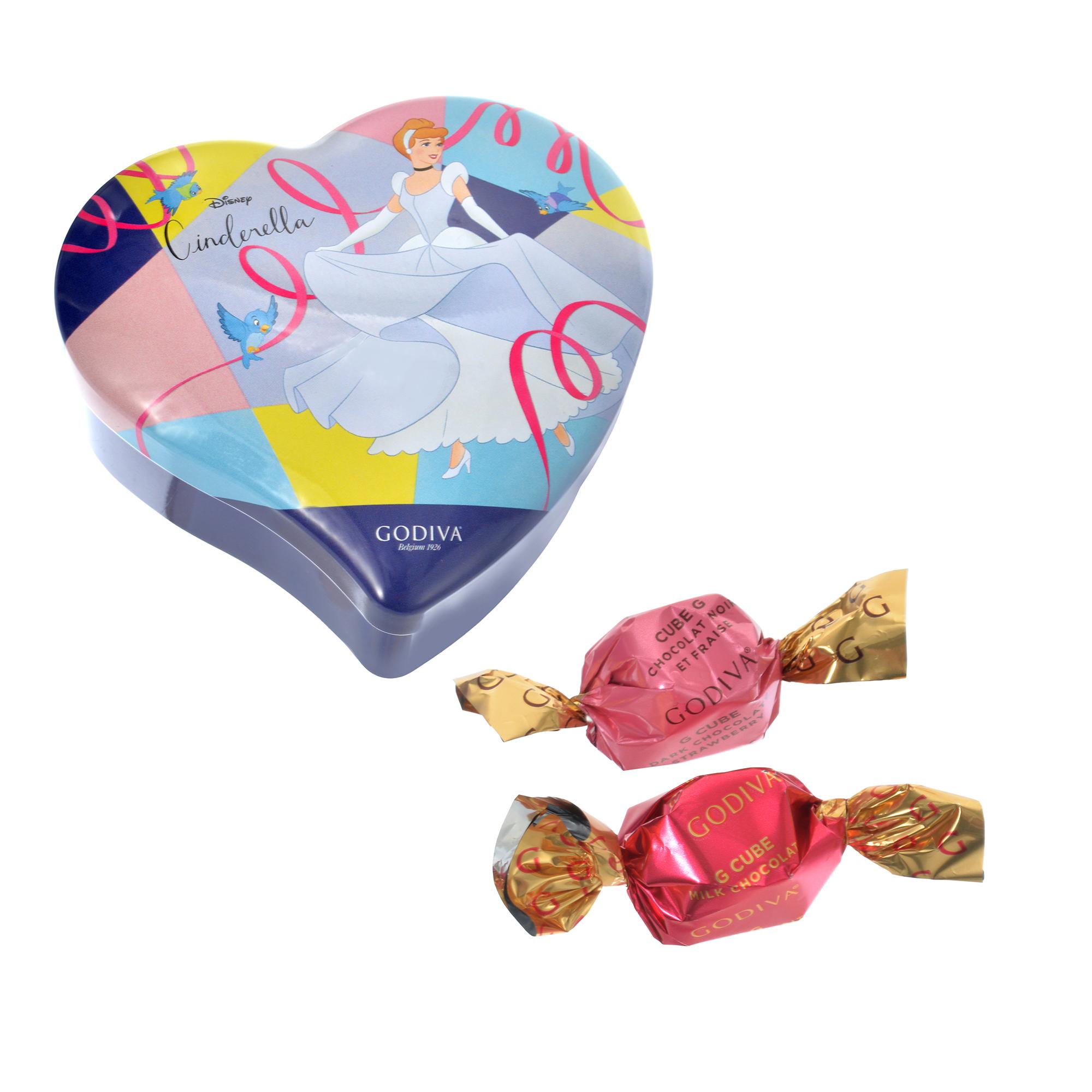 【GODIVA】シンデレラ G キューブ アソートメント ミニハート缶 Special Valentine