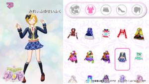 「アイドルランドプリパラ」アプリ画面