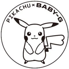 """"""" BABY-G"""" 「ピカチュウ」のコラボレーションモデル「BA-110PKC」 しっぽのシルエット(遊環)"""