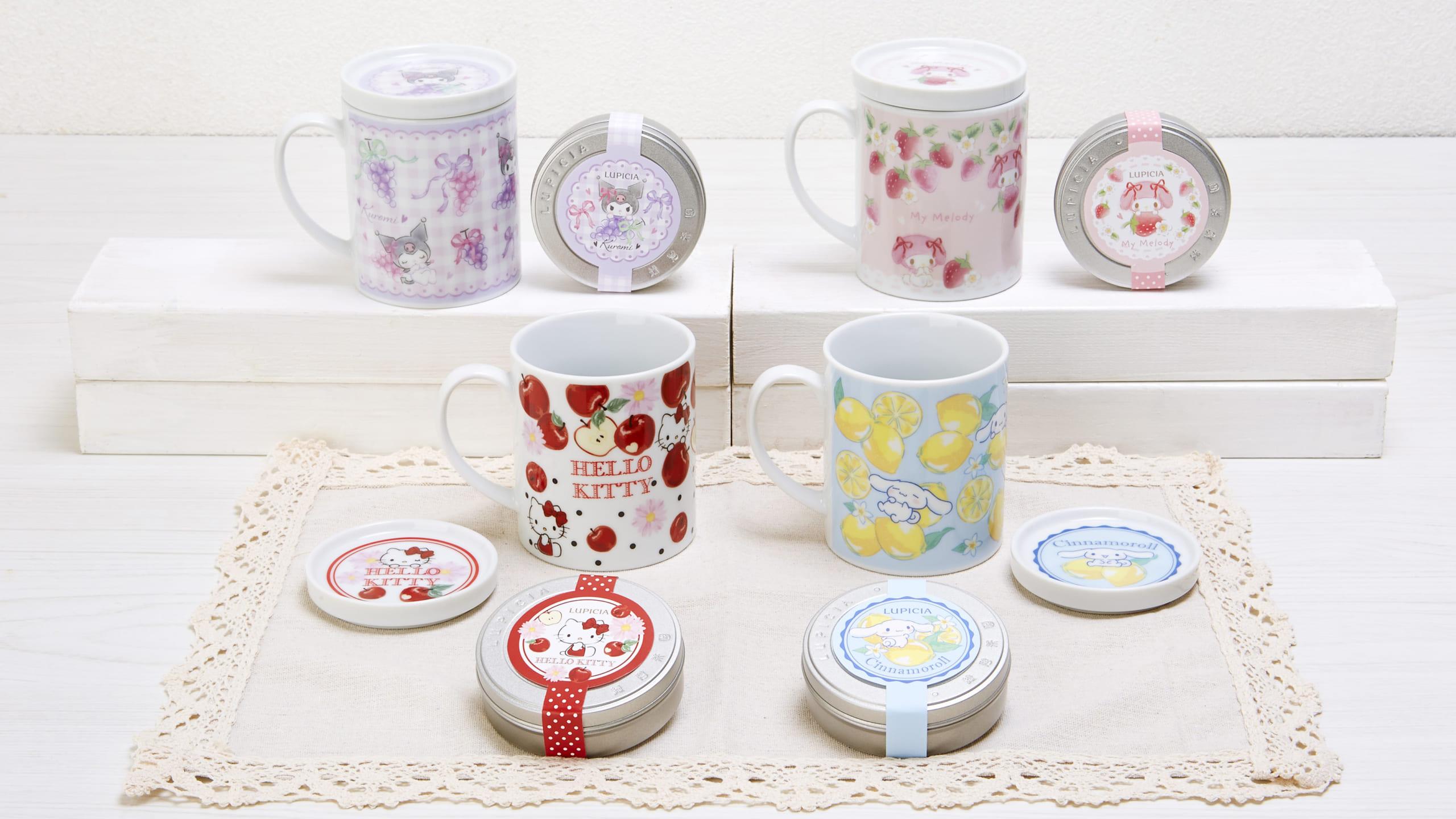 「サンリオ」×世界のお茶専門店「LUPICIA」紅茶ギフトセットが登場!フルーツの紅茶&蓋つきマグカップのセット