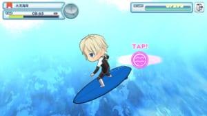スマートフォン向けアプリ「WAVE!!〜波乗りボーイズ〜」ミニゲーム1