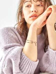 earth music&ecology Japan Label ×「MakeS -おはよう、私のセイ-」第2弾「MakeS 2WAYアンクレット」変態紳士 モデル ブレスレットver.