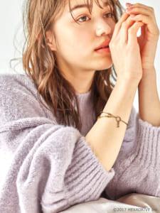 earth music&ecology Japan Label ×「MakeS -おはよう、私のセイ-」第2弾「MakeS 2WAYアンクレット」ぼくとつBOY モデル