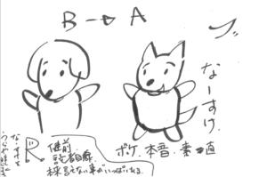 神木隆之介さんによるキャラクター設定画:なーすけ、Rくん
