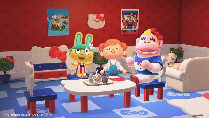 「あつまれ どうぶつの森」×「サンリオキャラクターズ」コラボ ゲーム画面 写真スタジオ