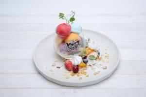 「ヒプノシスマイク2nd D.R.B コラボレーションカフェ」渋谷109店限定メニュー・2nd D.R.Bパフェ