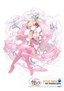 アニメイトカフェ×桜ミク 描き下ろしイラスト:オサム様
