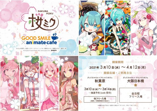 アニメイトカフェ×桜ミク